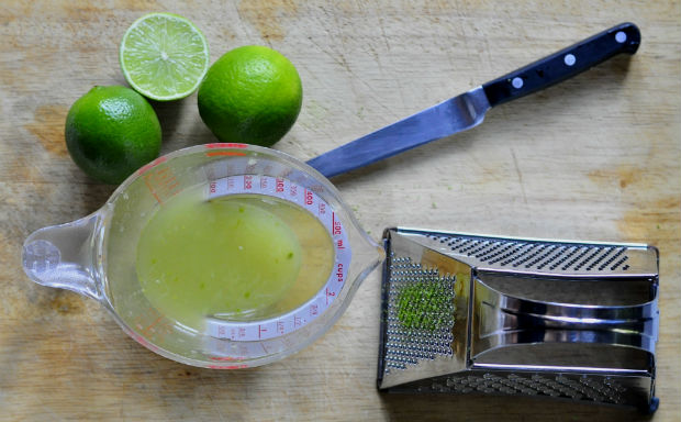 lime zest and lime juice