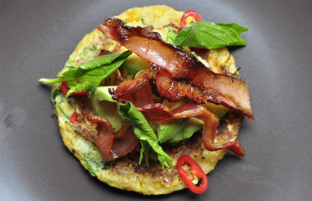 Sweetcorn brunch pancakes