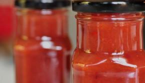 jars of chilli and cherry sauce