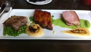 3 Ways pork at Baroque bistro