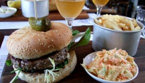 Angus burger and a Coopers