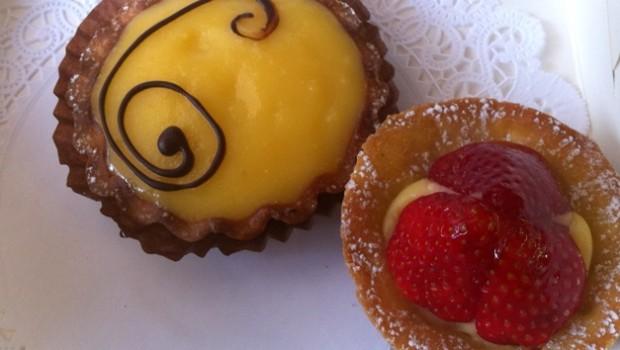 Petit four and citron tarte