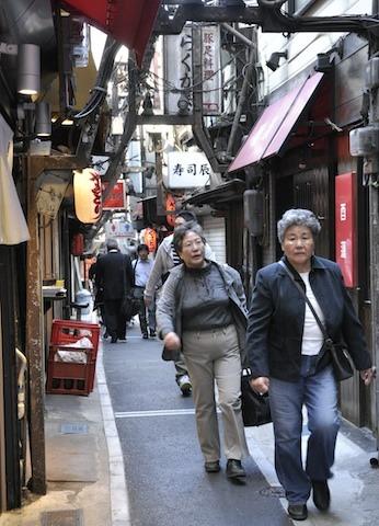 Street of yakitori bars in Tokyo