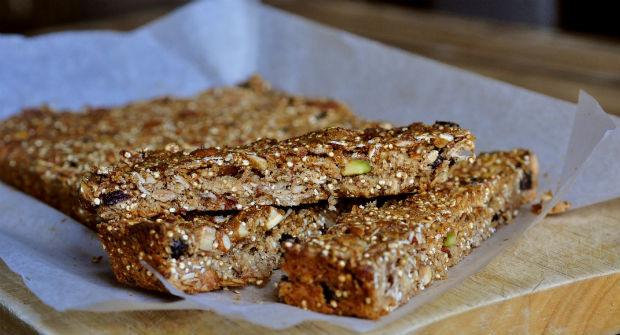 high energy environmentally friendly muesli slice