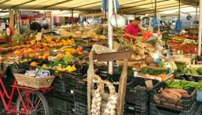 Campo de' Fiori Market stalls Rome, Italy