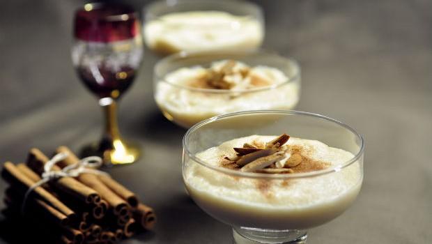 Moroccan almond cream pudding