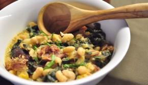 Galician soup in a bowl - Caldo Gallego