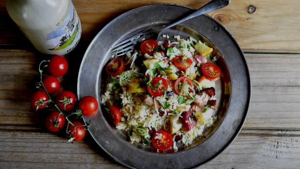 Granny smith's rice and ham salad