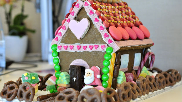 The Christmas gingerbread house