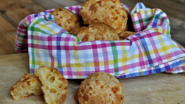 Brazilian cheese bread in a bowl