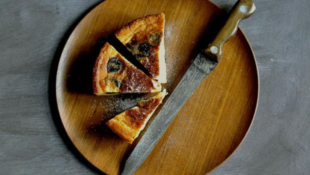 Far Breton baked custard tart