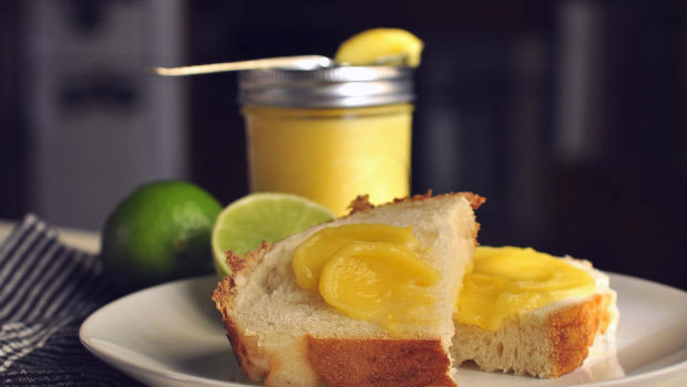 lemon and lime curd on bread 2