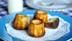 Canneles - French pastries on a plate