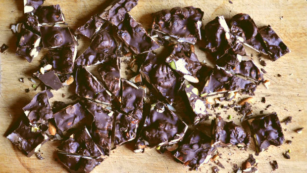 The best tasting rocky road on a chopping board