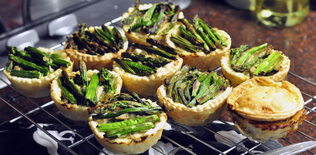 chicken and asparagus pies